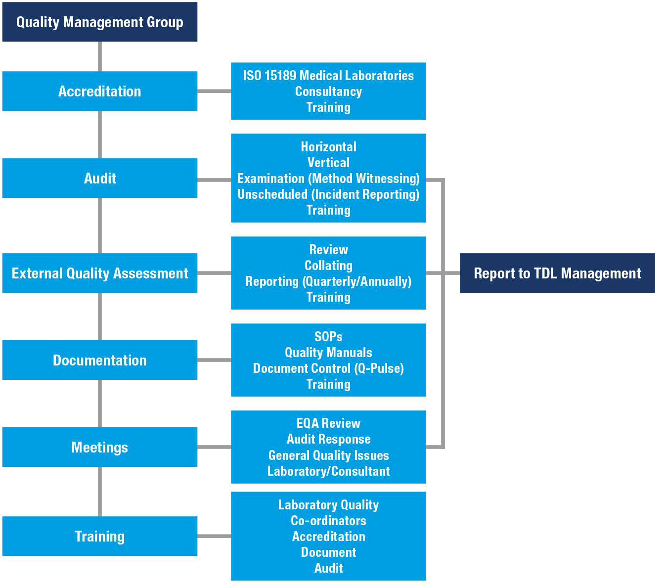 Quality Management Group Activities diagram